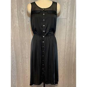 Ann Taylor Black Sleeveless Shirt Dress M NWT $138